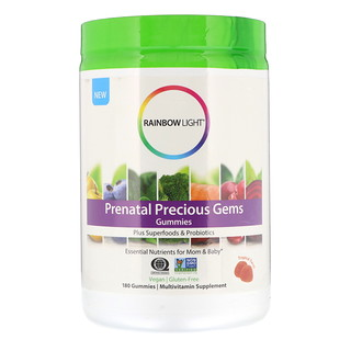 Rainbow Light, Prenatal Precious Gems Gummies, Tropical Twist, 180 Gummies