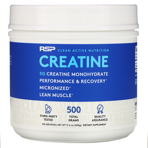 RSP Nutrition, Creatine Monohydrate Powder, 5 g, 17.6 oz (500 g)