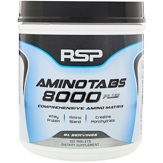 RSP Nutrition, 氨基片8000 Plus,325片