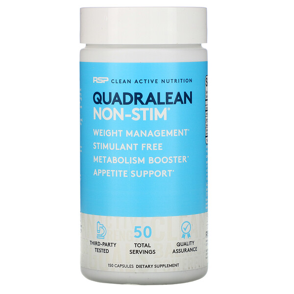 RSP Nutrition, QuadraLean, Stimulant-Free Weight Management, 150 Capsules