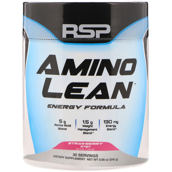 RSP Nutrition, AminoLean, Weight Management + Energy Formula, Strawberry Kiwi,  8.68 oz (246 g)