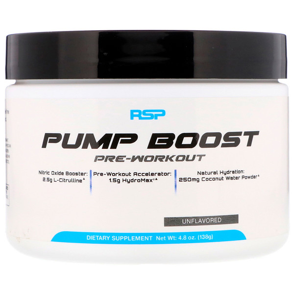 Pump Boost Pre-Workout, Unflavored, 4.8 oz (138 g)