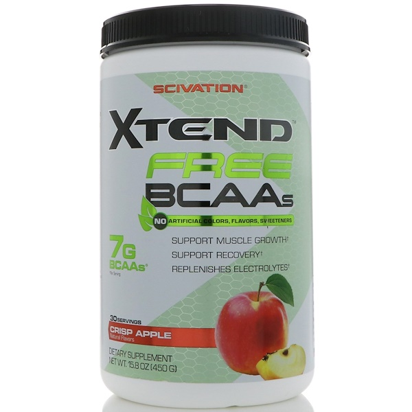 Scivation, Xtend ,Free BCAAs, Crisp Apple, 15.8 oz (450 g) (Discontinued Item)