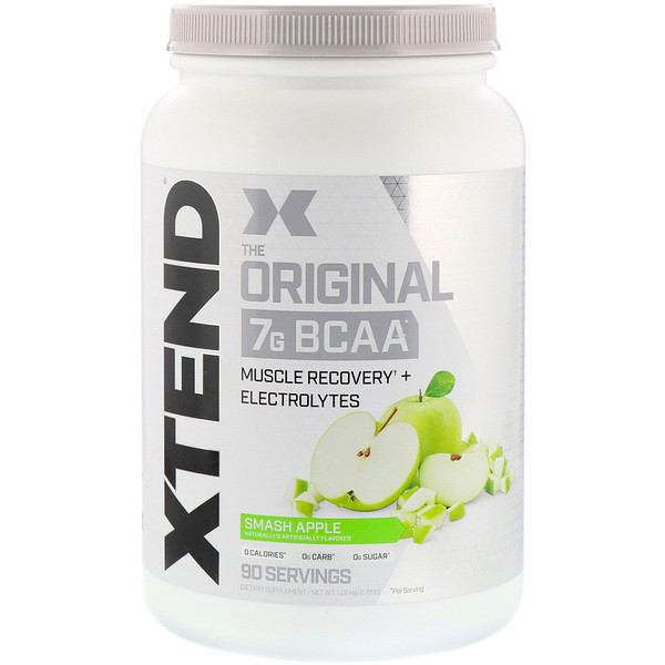 Scivation, Xtend, The Original 7G BCAA, Smash Apple, 2.78 lb (1.26 kg)