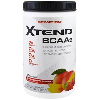 Scivation, Xtend BCAA,草莓芒果,13.7盎司(390克)