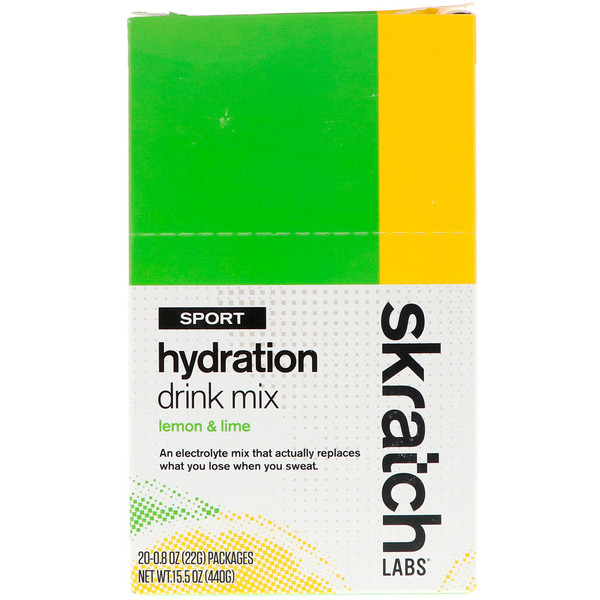 Sport Hydration Drink Mix, Lemon & Lime, 20 Pack, 0.8 oz (22 g) Each