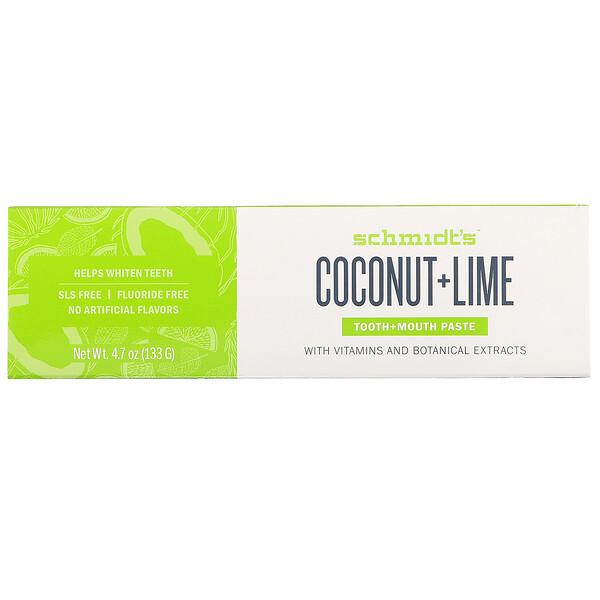 Tooth + Mouth Paste, Coconut + Lime, 4.7 oz (133 g)