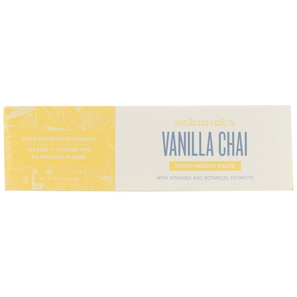 Tooth + Mouth Paste, Vanilla Chai, 4.7 oz (133 g)