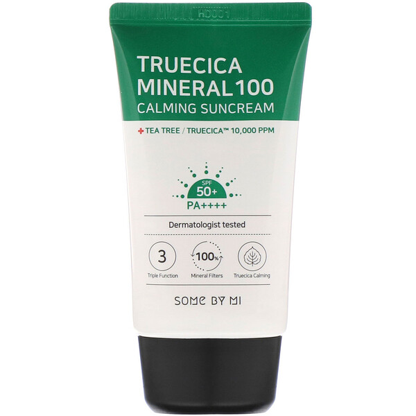 Some By Mi, Truecica Mineral 100 Calming Suncream, SPF 50+ PA++++, 1.69 fl oz (50 ml)