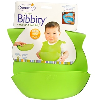 Summer Infant, The Original Bibbity,可冲洗可卷曲围嘴,1只