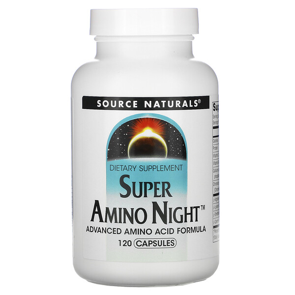 Source Naturals, Super Amino Night,120粒胶囊