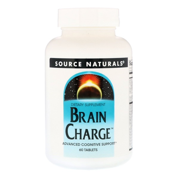 Source Naturals, Brain Charge(脑部充电),60 片