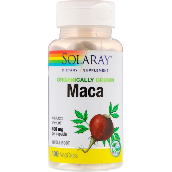 Solaray, Organically Grown Maca, 500 mg, 100 VegCaps (Discontinued Item)