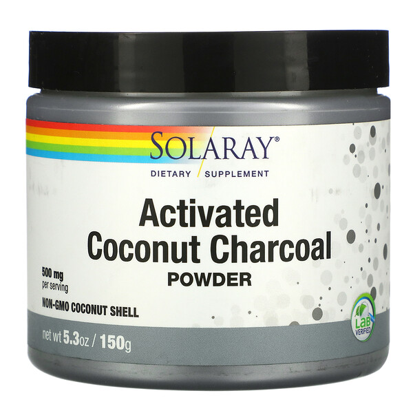 Activated Coconut Charcoal Powder, 500 mg, 5.3 oz (150 g)