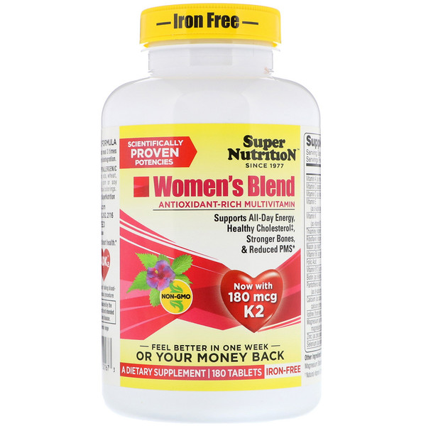 Women's Blend, Iron Free, 180 Tablets