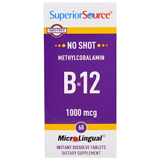 Superior Source, Methylcobalamin B-12, 1000 mcg, 60 MicroLingual Instant Dissolve Tablets