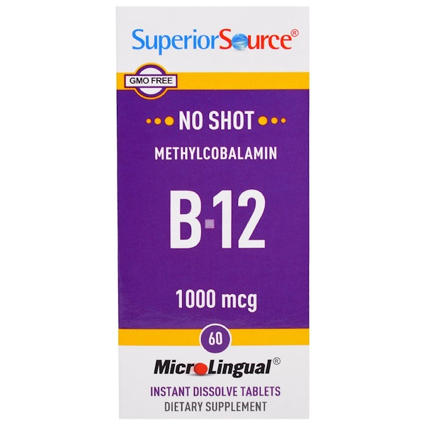Superior Source, Methylcobalamin B-12, 1000 mcg, 60 Tablets