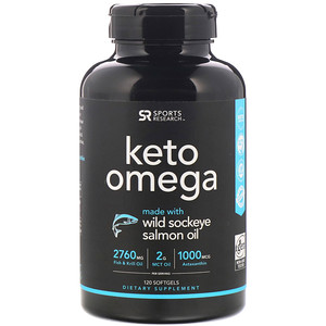 Sports Research, Keto Omega with Sockeye Salmon Oil, 120 Softgels'