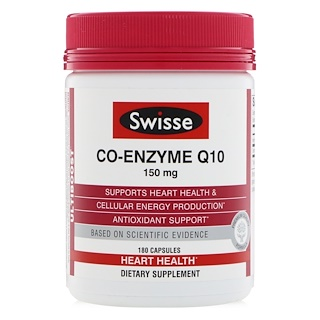 Swisse, Co-Enzyme Q10, 150 mg, 180 Capsules