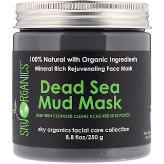Sky Organics, Dead Sea Mud Mask, 8.8 fl oz (250 g)