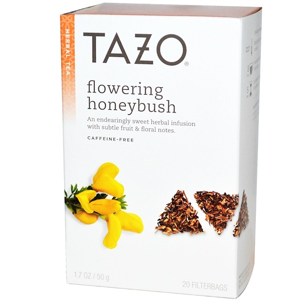 Tazo Teas, 花蜜树茶,花草茶,不含咖啡因,20袋,1.7盎司(50克) (Discontinued Item)