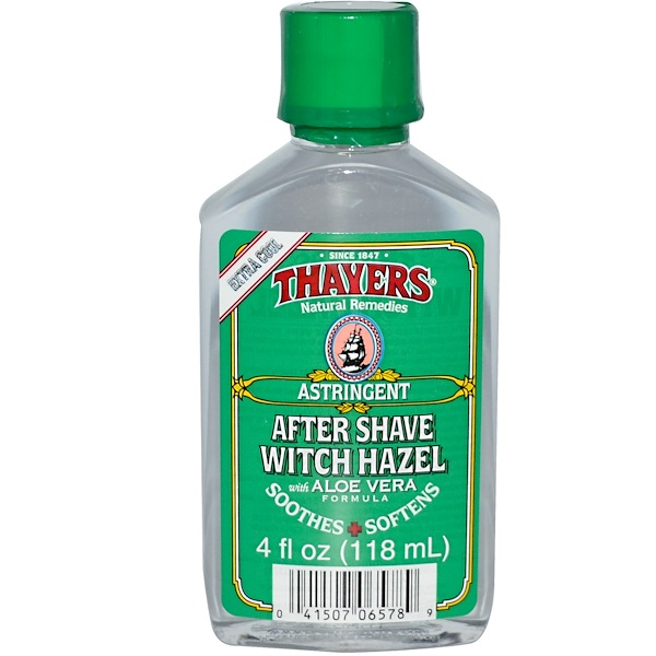 Thayers, After Shave Witch Hazel, 4 fl oz (118 ml) (Discontinued Item)