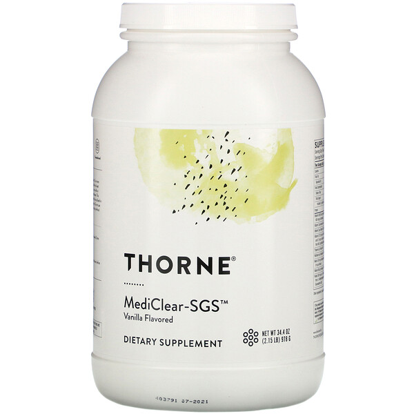 Thorne Research, Mediclear-SGS,香草口味,34.4 盎司(978 克)