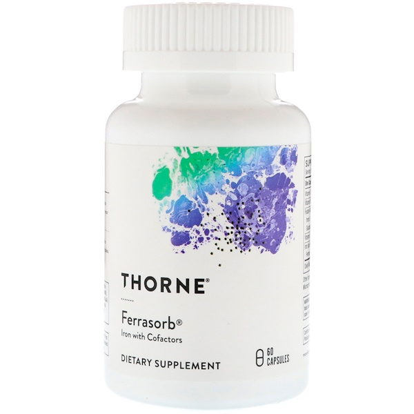 Thorne Research, Ferrasorb,60 粒素食胶囊