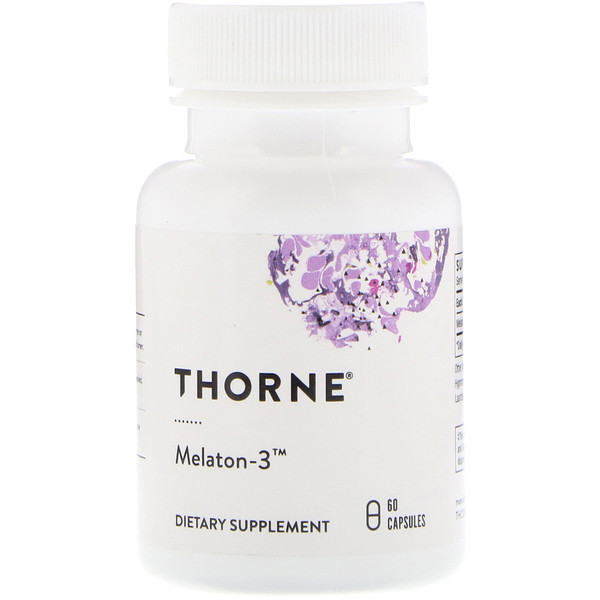 Thorne Research, Melaton-3,60 粒胶囊
