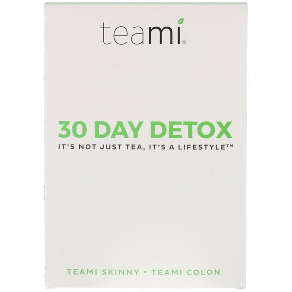 Teami, 30 Day Detox, Skinny Tea Blend + Colon Tea Blend, 1 Kit