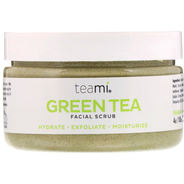 Green Tea Facial Scrub, 4 oz (100 ml)