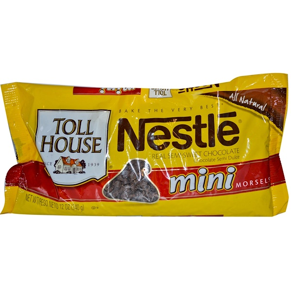 Nestle Toll House, Mini Morsels, Real Semi-Sweet Chocolate, 12 oz (340 g) (Discontinued Item)