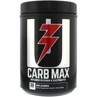 Universal Nutrition, Carb Max, Replenish Glycogen & Electrolytes, Unflavored, 1.39 lb (632 g)
