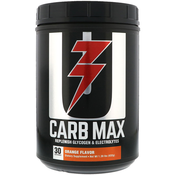 Carb Max, Replenish Glycogen & Electrolytes, Orange, 1.39 lb (632 g)