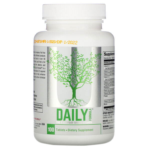 Daily Formula, The Everyday Multi Vitamin , 100 Tablets