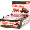 Universal Nutrition, Doctor's CarbRite Diet Bars 代餐棒,巧克力布朗尼,12 根,每根 2.00 盎司(56.7 克)