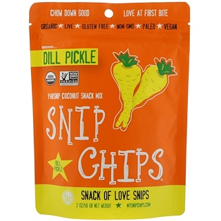 Sejoyia Foods, Snip Chips, Dill Pickle, 2 oz. (56 g)