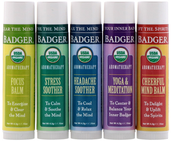 Aromatherapy Travel Kit, 5 Pack, .15 oz (4.3 g) Each