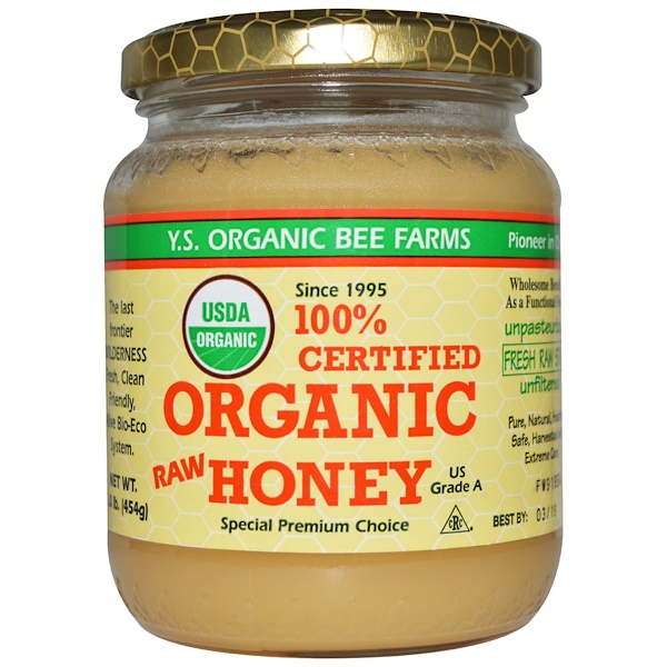 Y.S. Eco Bee Farms, 100% Certified Organic Raw Honey, 1.0 lbs (454 g)
