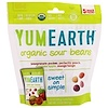 YumEarth, Organic Sour Beans, Assorted Flavors, 5 Snack Packs, 0.7 oz (19.8 g) Each